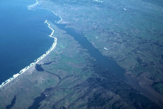 San Andreas fault and Tomales Bay