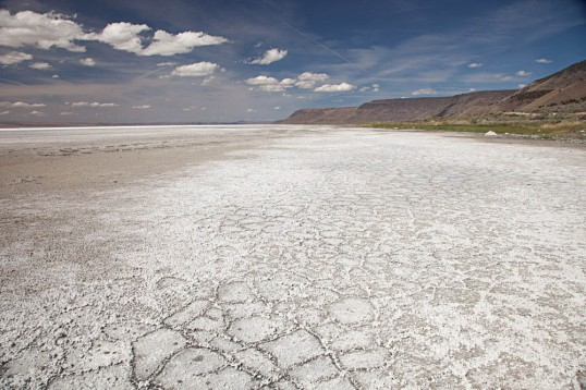 salt deposits at Lake Abert, Oregon