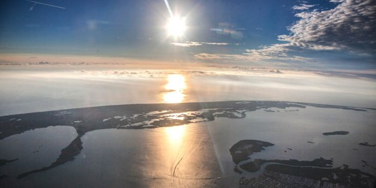 Sanibel Island and the Florida Gulf Coast --while descending into Fort Myers