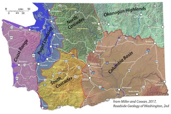 Washington State and geologic provinces