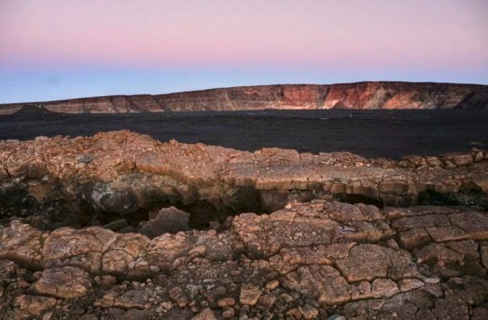 Summit caldera and fractures, Mauna Loa, Hawaii