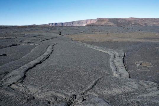Frozen lava lake, Mauna Loa