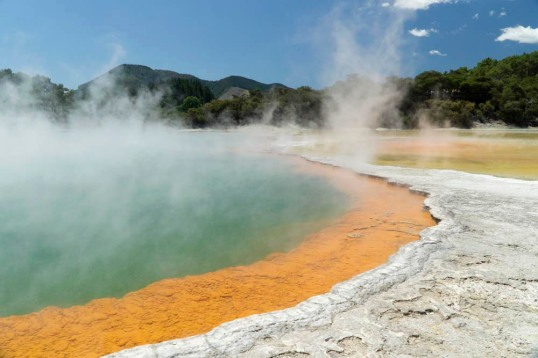 Hydrothermal spring and deposits, New Zealand