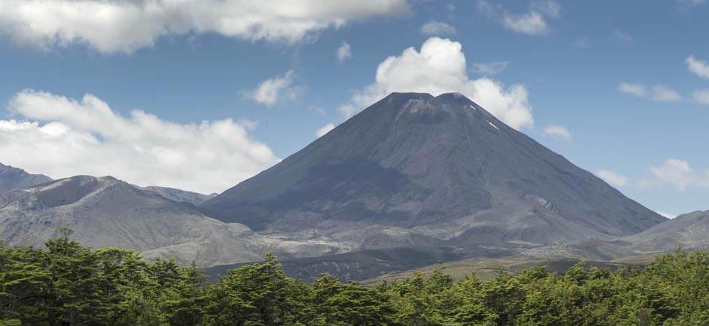 Andesite stratovolcano, New Zealand