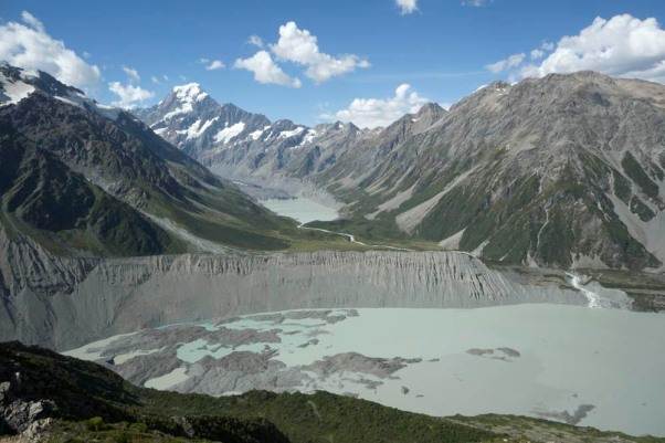 Glacial erosion and deposition, New Zealand