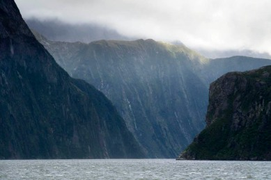 Glacial Fjord. Milford Sound, New Zealand
