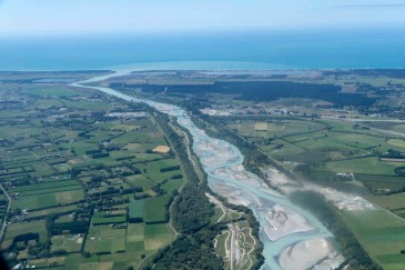 Mouth of Waimakariri River, New Zealand