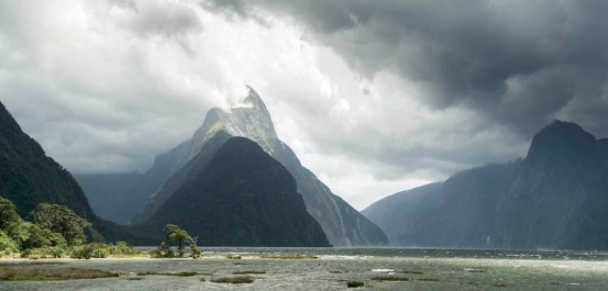 Glacial fjord. Milford Sound, New Zealand.
