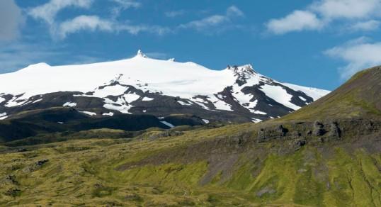 Snæfellsjökull volcano and glacier, Iceland