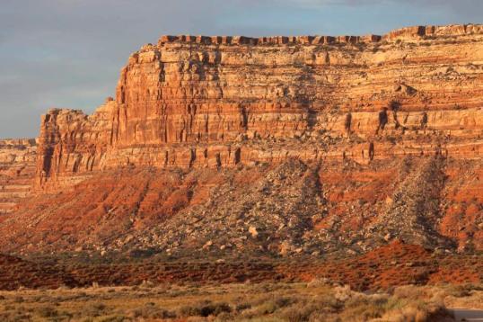 Talus cones and Cedar Mesa, Utah
