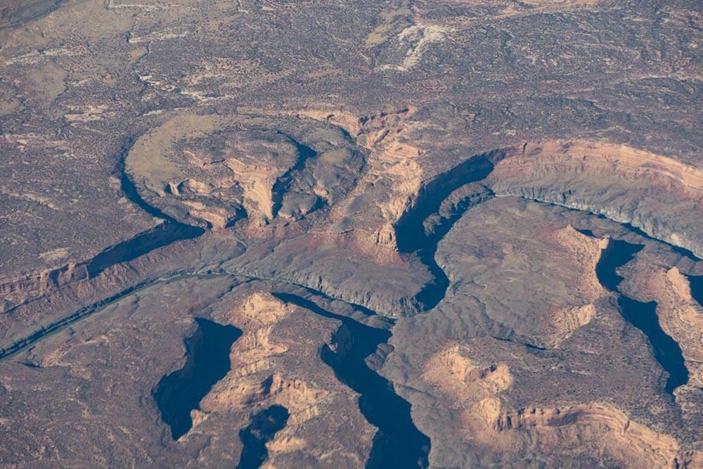 Stranded meander loop, Colorado River, Colorado