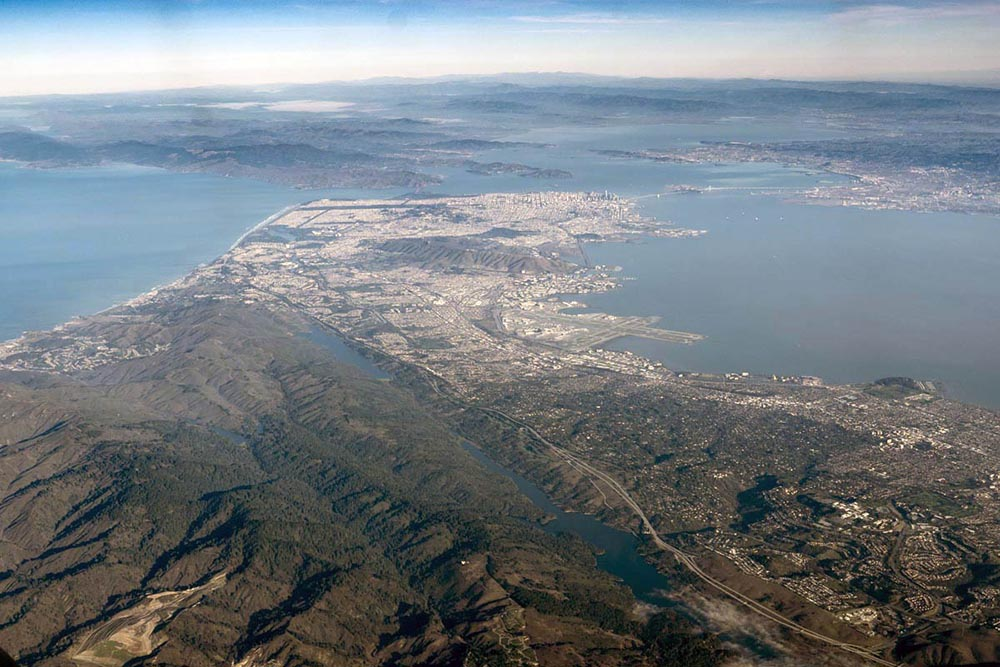 San Andreas fault zone and San Francisco