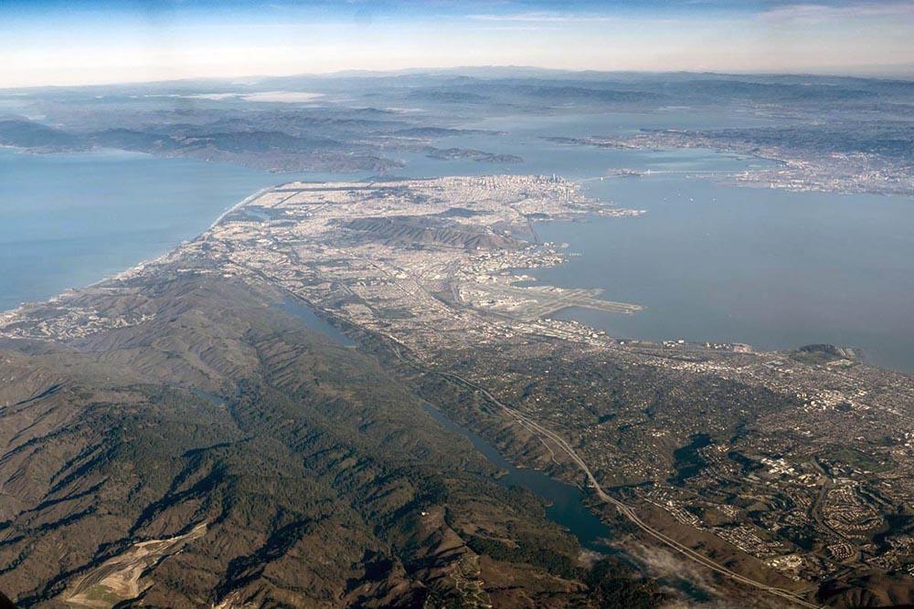 San Andreas fault zone and San Francisco