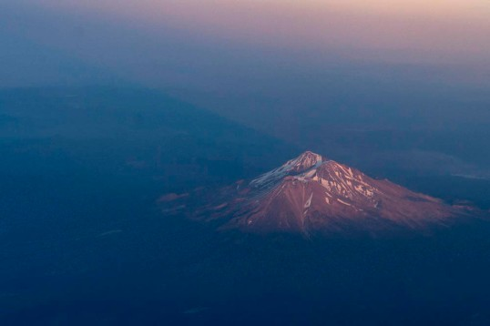 Mt. Shasta at sunset, California