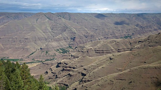 Basalt flows of the Columbia River Basalt Group, Imnaha Canyon,